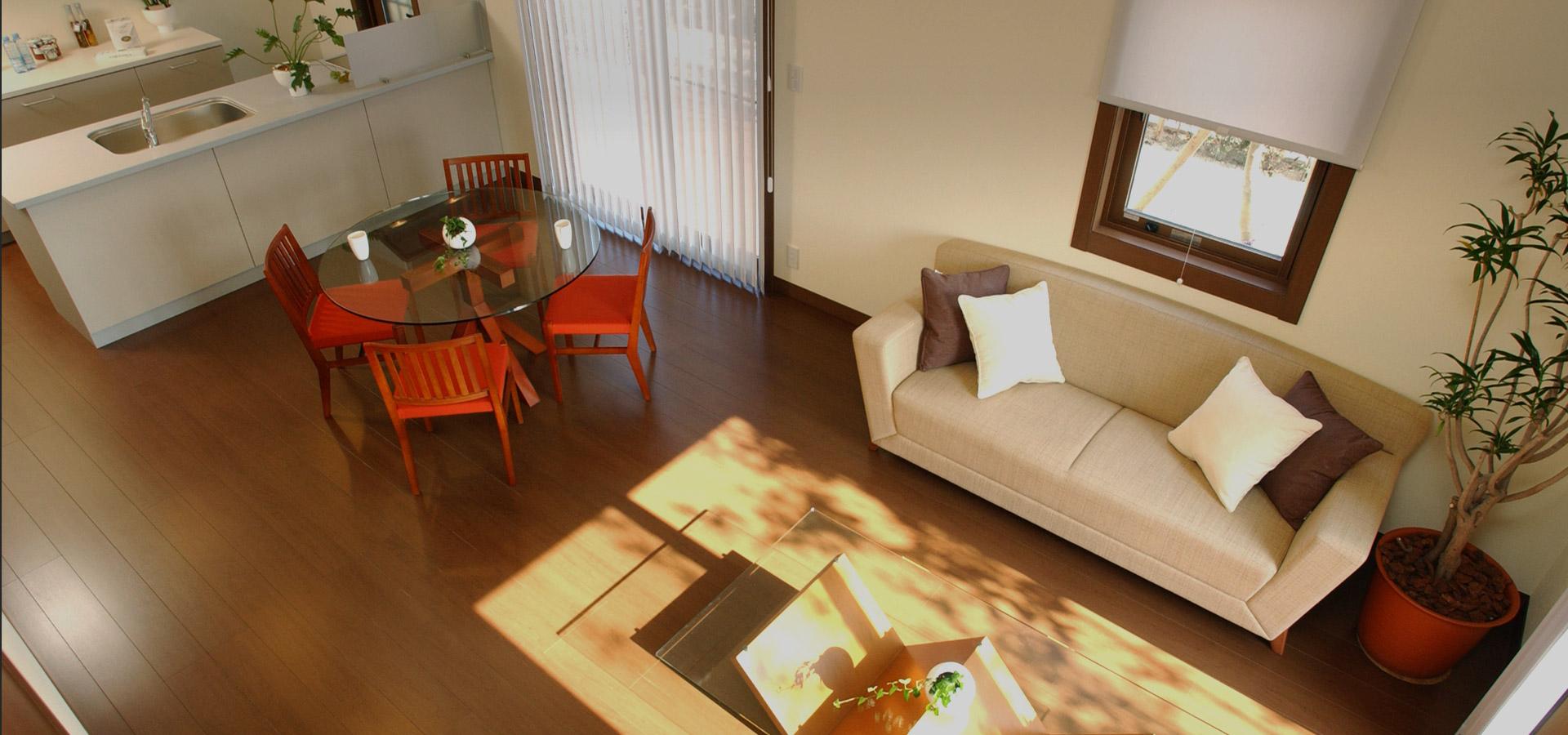 大切な家族と過ごす快適な居住空間 総合不動産ではお客様の家族構成や将来設計に合わせた物件のご紹介を心掛けています。